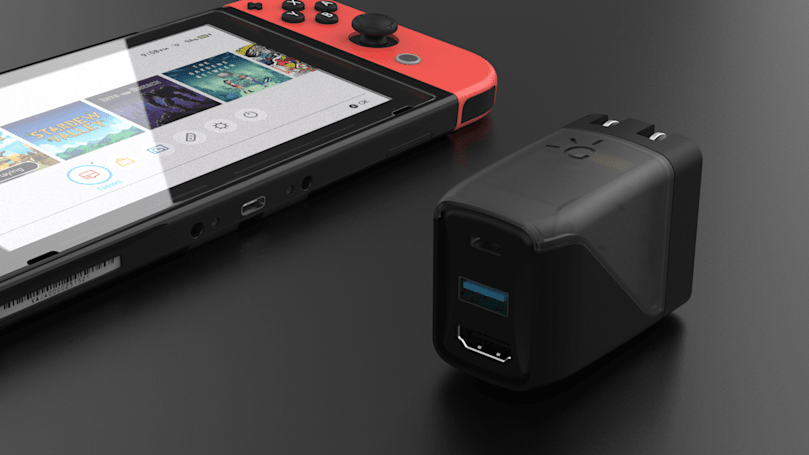 Human Things' Switch charger is also a portable TV dock