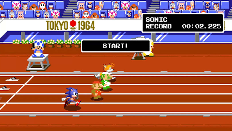 The next 'Mario & Sonic Olympics' game has a retro 2D mode