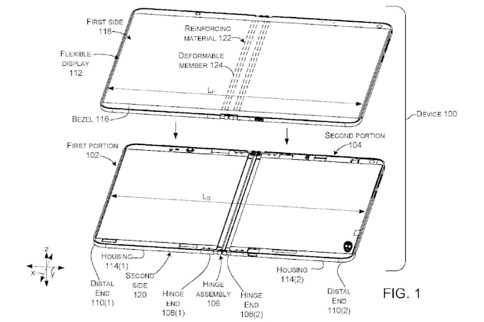 Microsoft is considering foldable devices with liquid-filled hinges