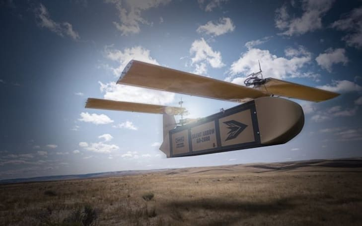 The Silent Arrow is a massive glider delivery drone