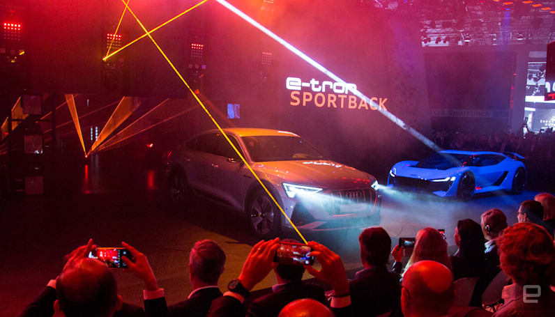 Audi teases the E-Tron Sportback with a short cameo