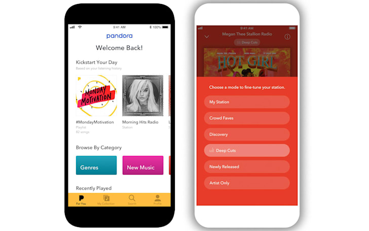 Pandora's mobile app gets better personalization and discovery features