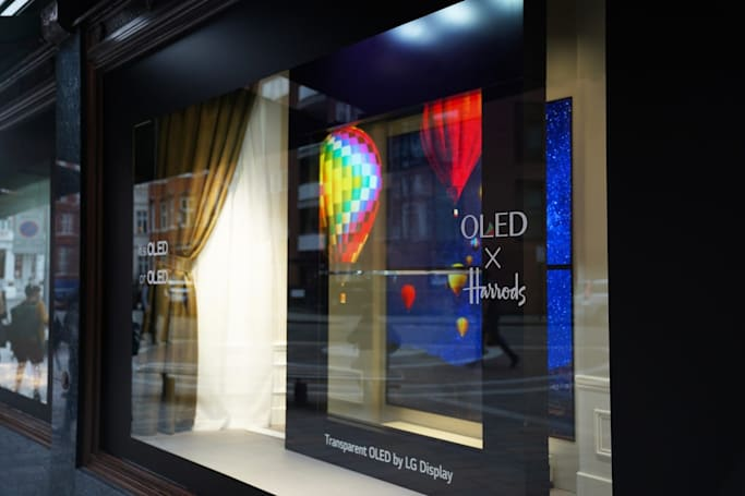 LG puts its transparent OLED TVs in Harrods windows
