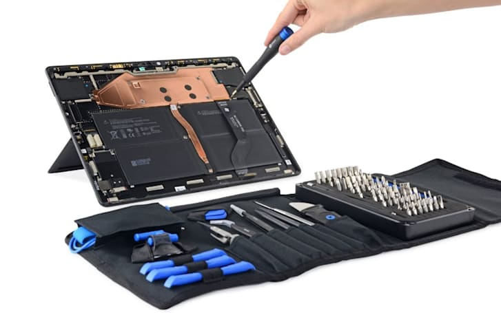 Surface Pro X teardown reveals one of the most repairable tablets ever