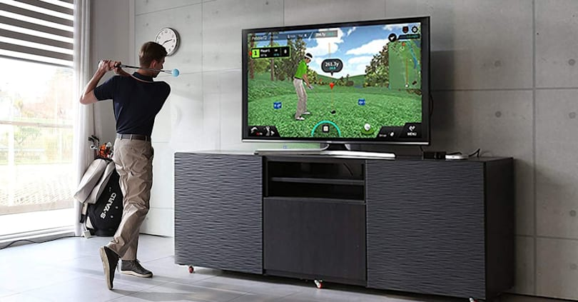 Practice your swing at home with this golf simulator