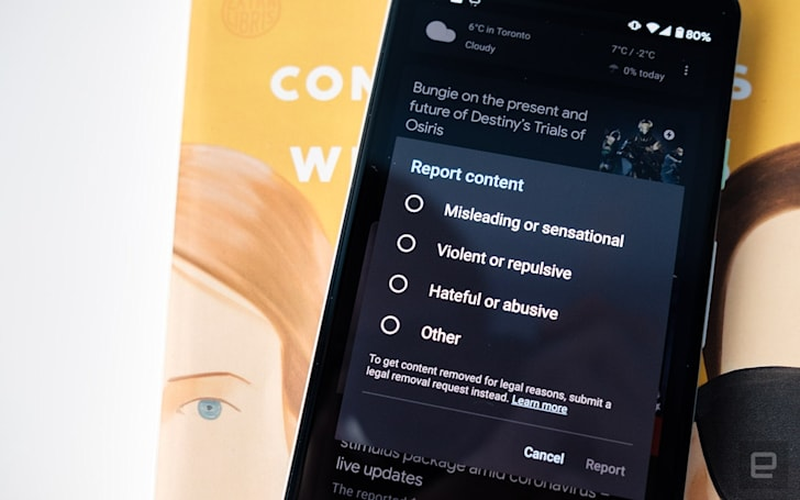 Google updates its Discover Feed to let you flag misleading articles