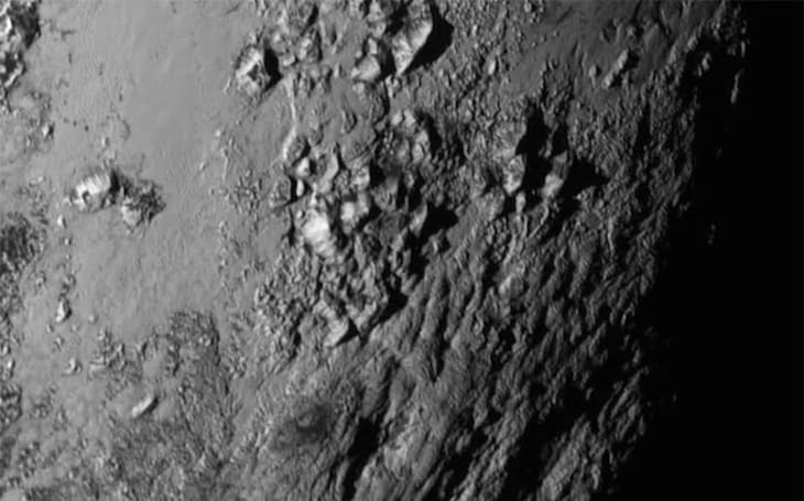 NASA gives you a flyover view of Pluto's icy mountains