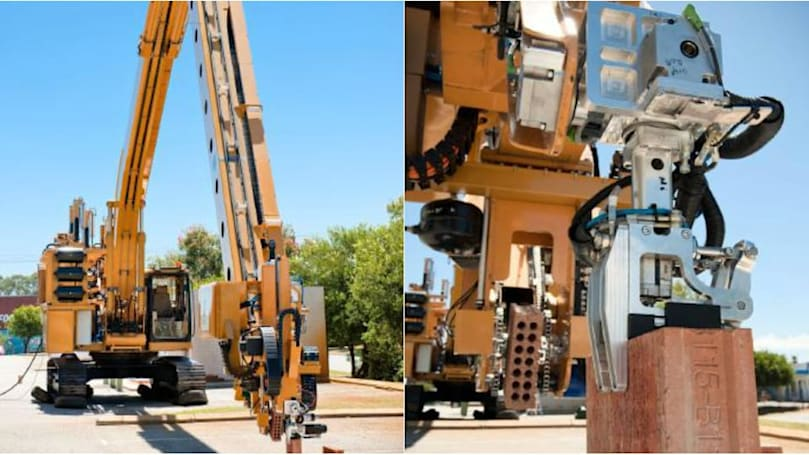 This robotic bricklayer can build a house in two days