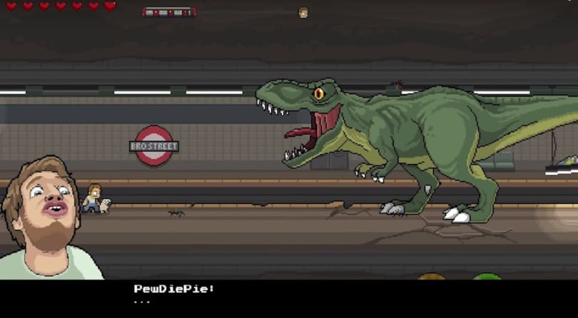 Play a game about YouTube stars in 'PewDiePie: Legend of the Brofist'