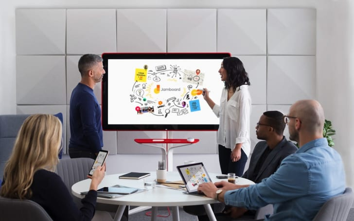 Google's Jamboard is a 4K digital whiteboard for collaboration