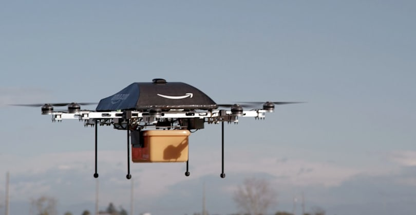 Amazon proposes a delivery drone flight plan