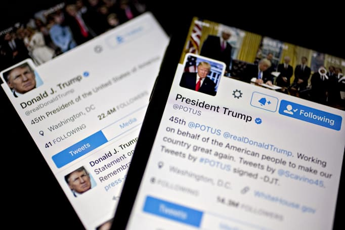 Senators ask for info on Trump's smartphone use