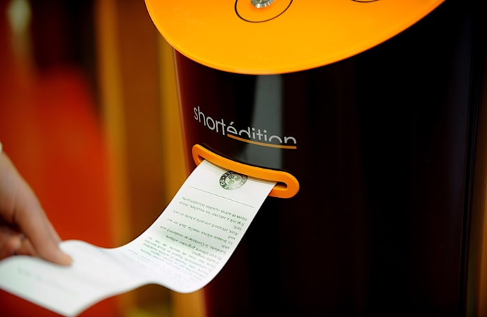Short story vending machine promises old-school distractions