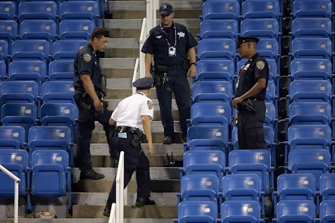 Teacher arrested after drone crashes at the US Open