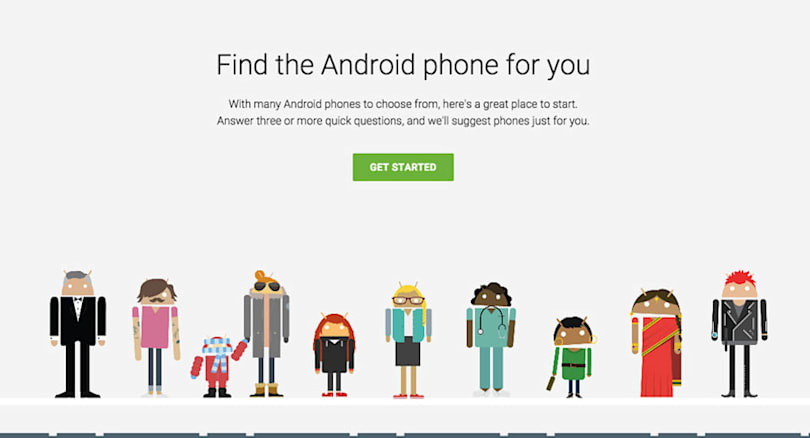 Google can tell you which Android phone you should buy