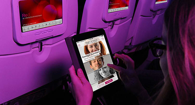 Make 'business connections' with Virgin America's new in-flight social network ;)