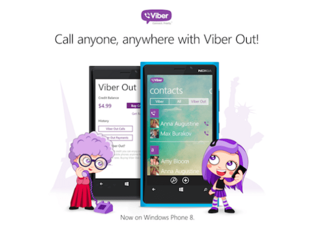 Windows Phone 版 Viber 現在亦能夠打電話囉