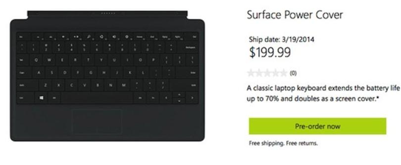 Microsoft 为 Surface 系列推出 Power Cover,可提供最多 70% 额外续航力