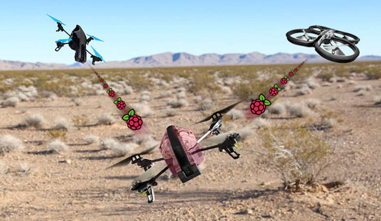 Raspberry Pi-equipped AR.Drone can hijack other quadcopters' WiFi link (video)