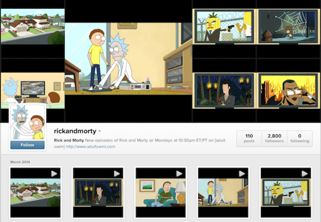 Adult Swim cartoon jumps from cable to Instagram in 15-second chunks