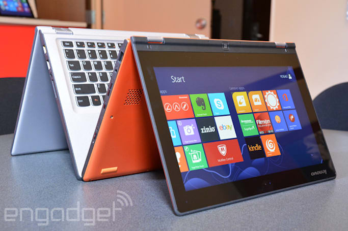 Lenovo's refreshed Yoga 2 laptops bring mid-range specs; 11-inch model no longer runs Windows RT