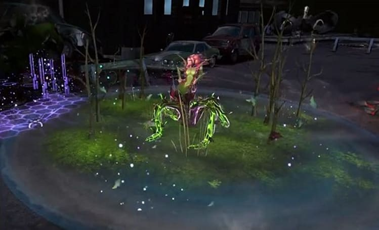 Atomic Poison Ivy vine-whips opponents in Infinite Crisis trailer