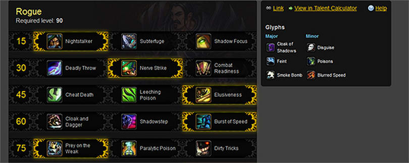 Wowhead Profiler tool updated with talents, glyphs