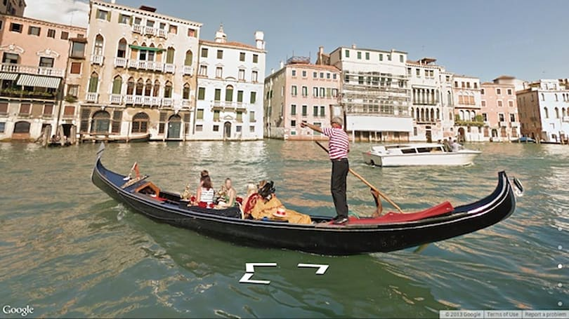 Google's Street View maps the watery roadways of Venice