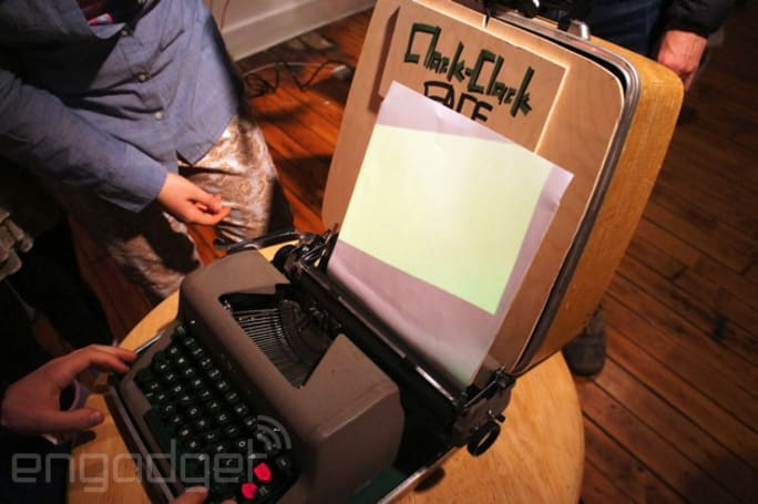 Clack-Clack FACE gives a typewriter new life as a text-based portrait painter