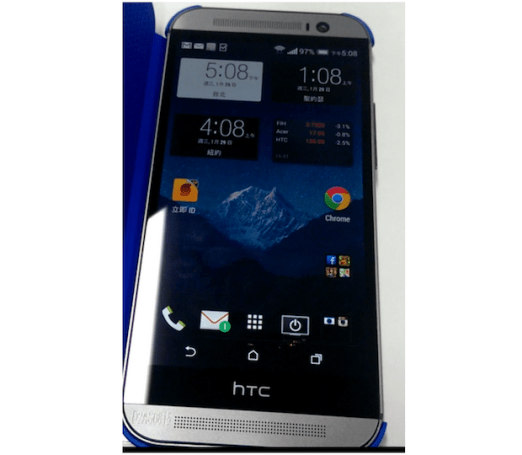 HTC M8 清晰正面照流出,功能键果真是落在屏幕上