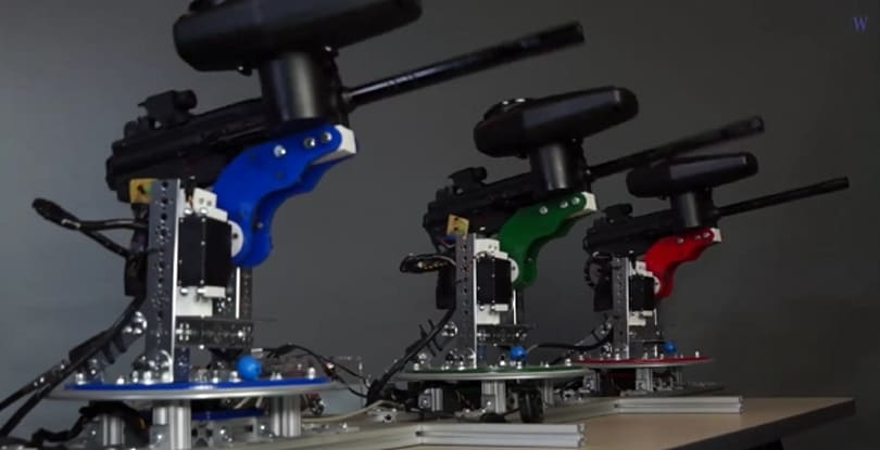 Waterloo Labs uses paintball guns to make automated works of art