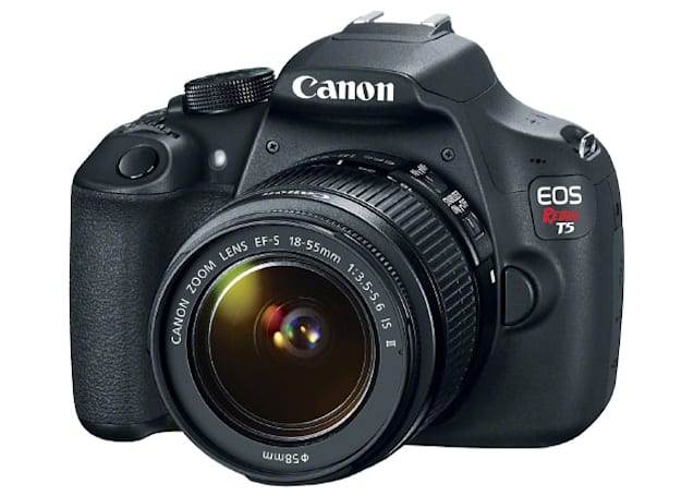 EOS Rebel T5 is Canon's cheapest DSLR, priced at $550 with 18-55mm lens