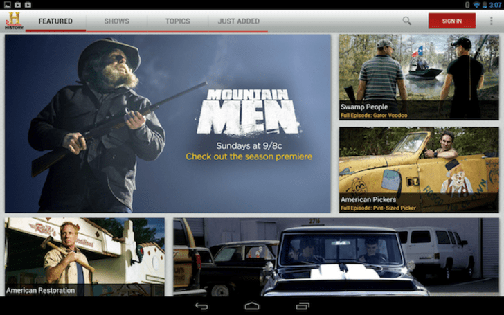 Time Warner Cable customers can now stream on-demand shows from A&E Networks