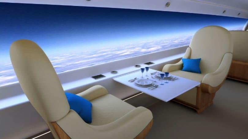 Spike 的超音速客机概念将窗户变成超级大屏幕