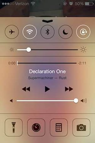 Here's a neat new physics feature in iOS 7.1 control center