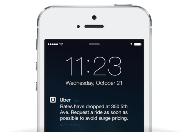 Uber adds surge pricing push notifications to its iOS app