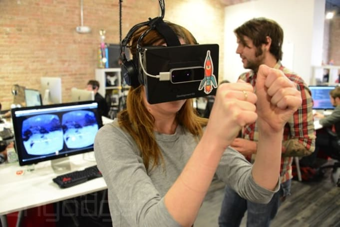Punching virtual sharks for points with the Oculus Rift and Leap Motion