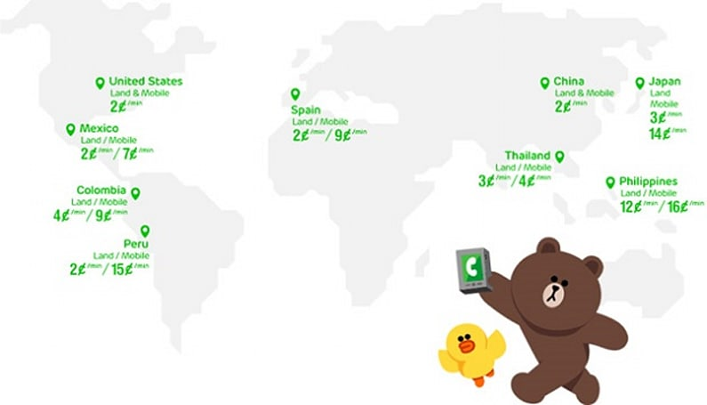 LINE 在 Android 上推出網絡電話服務,每分鐘 2 美分起