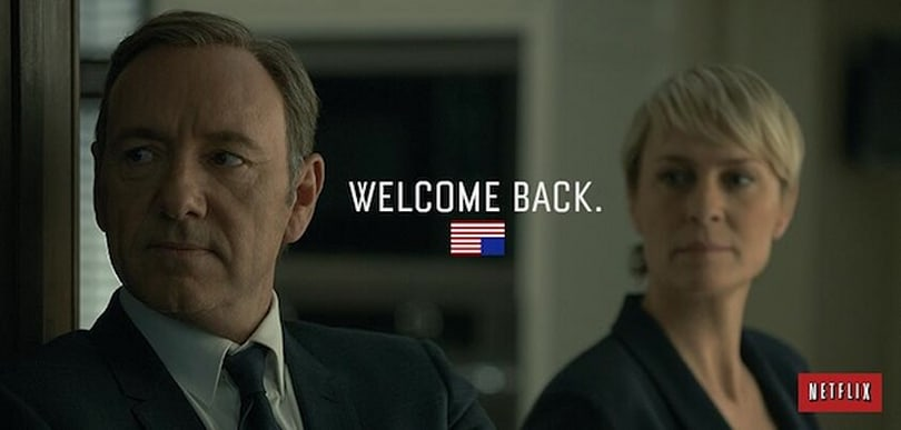 House of Cards season two is ready for viewing on Netflix