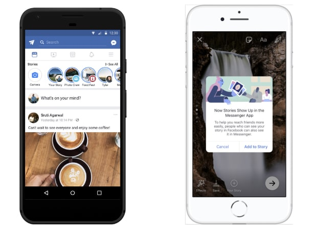 Facebook merges Stories and Messenger Day