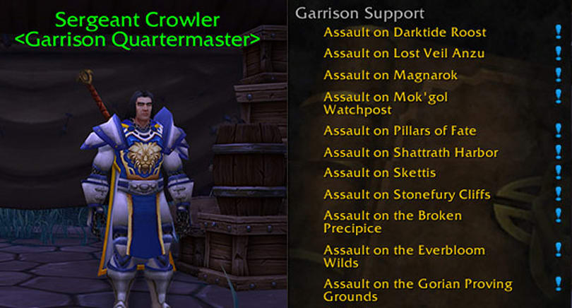 Patch 6.1: Trade Garrison Resources for extra daily quests