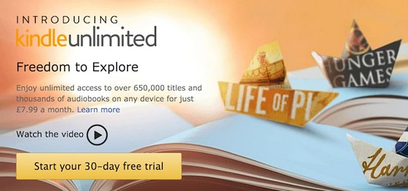 Amazon brings Kindle Unlimited e-book subscriptions to the UK