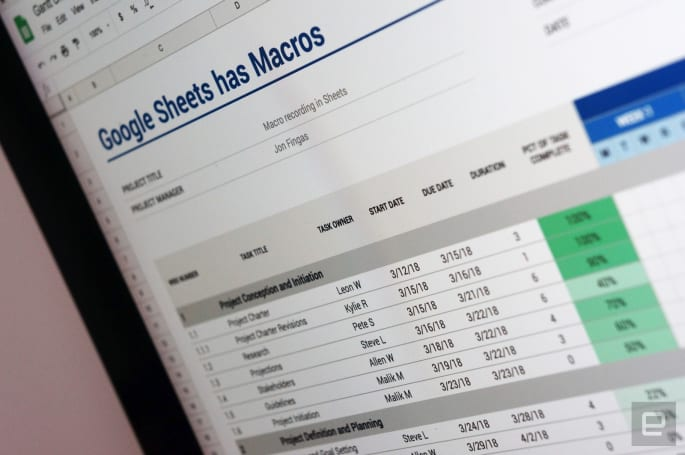 Google caters to productivity pros with macro recording in Sheets