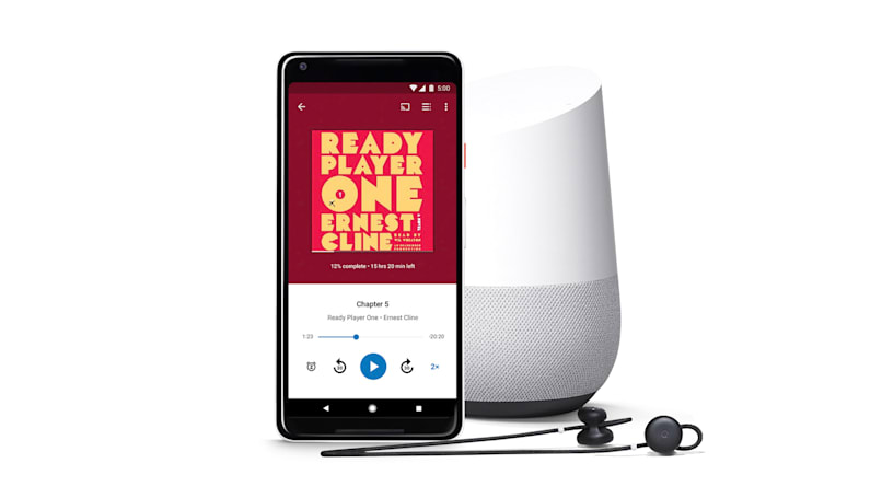 The Google Play store is now selling audiobooks