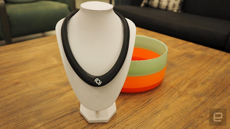 The OmniWear Arc is a haptic neckband for serious gamers