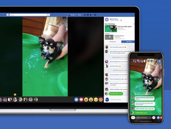 Facebook 新增多人线上同看视频的「观看派对」直播功能
