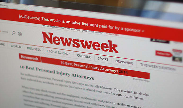 If you can't tell editorial from advertorial, there's a browser plug-in for that