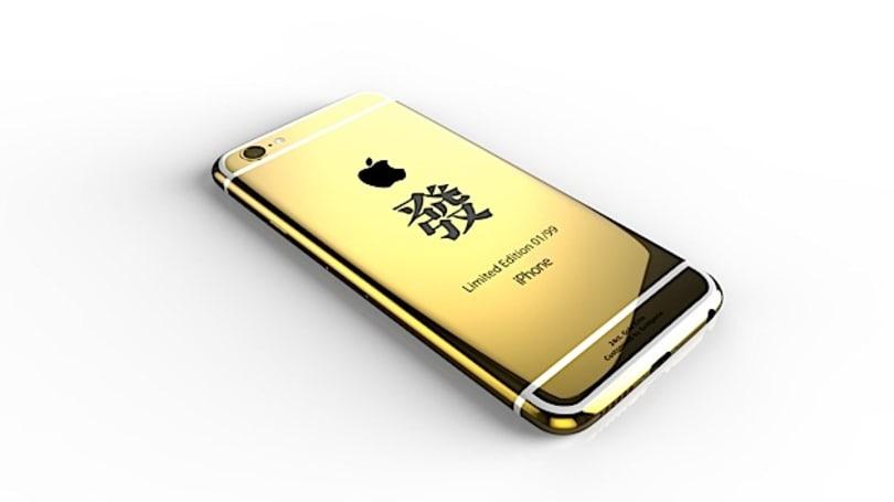 限量 99 台的电镀 24ct. 金「幸运 8」iPhone 6,要不要来一「发」?