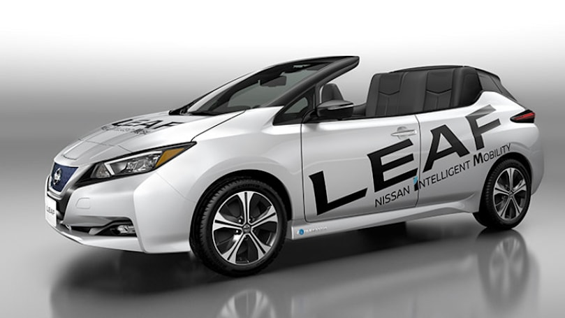 Nissan built a convertible Leaf, but you can't buy it