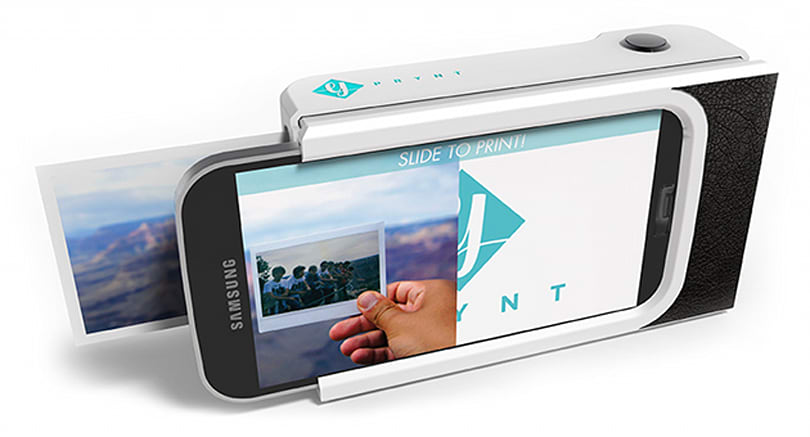 A Polaroid-style phone case can print selfies in under a minute